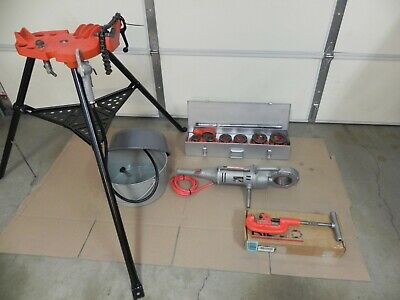 Ridgid 700 -t2 Power Threader 115v12r Set 12 - 2case Oiler Rigid Stand