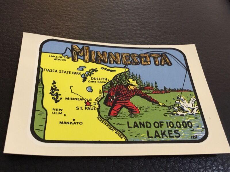 Vintage Minnesota, Land of 10,000 Lakes Decal