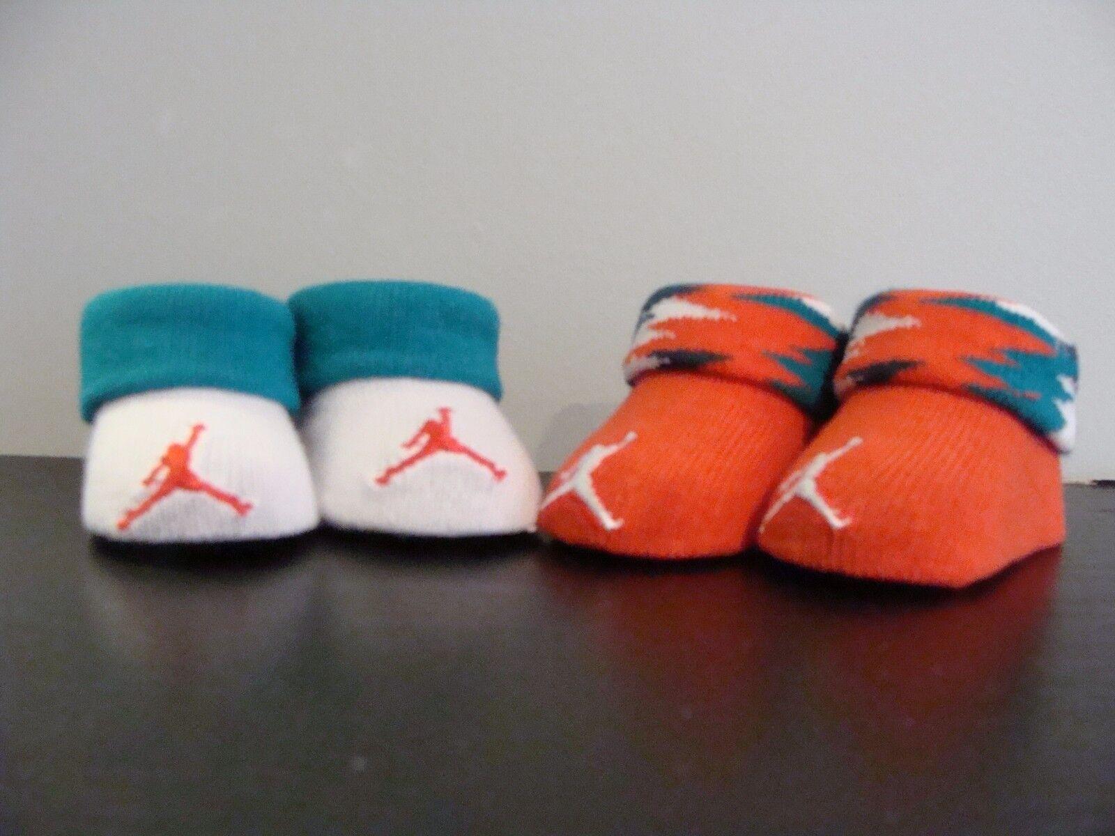 Nike Air Jordan Baby Infant Crib Shoes Booties Socks 0-6M OKC Colorway Westbrook
