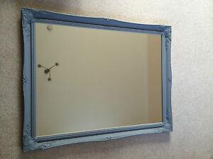 superb extra large french grey wall mirror frame size 30 x 42 75cm x 105cm ebay. Black Bedroom Furniture Sets. Home Design Ideas