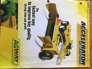 Agway Accelerator Hay Conditioner, 2009, one owner