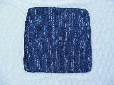 (Blue Square (2) Pillow Covers Modern Stripe Fold In Closure Denim Custom Made)