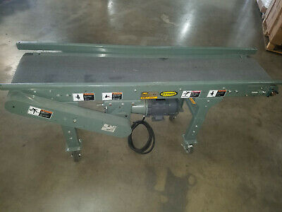Hytrol Belt Conveyor 12 Belt 6 Foot Long On Castors 575 Volt