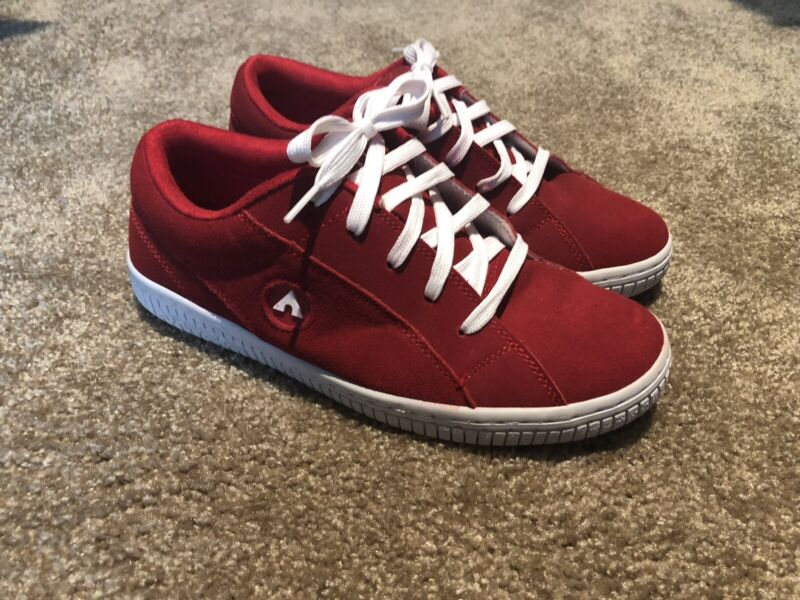 Airwalk Skateboard Shoes Mens Size 9 One Bloc Red Suede