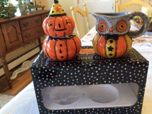 Johanna Parker Pumpkin Sugar Owl Creamer