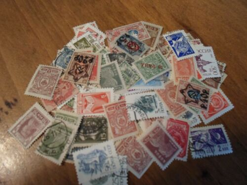lot 100 different definitive stamps of Soviet Union USSR