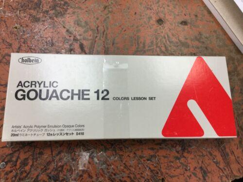 HOLBEIN Acrylic gouache 12 colors lesson set nib