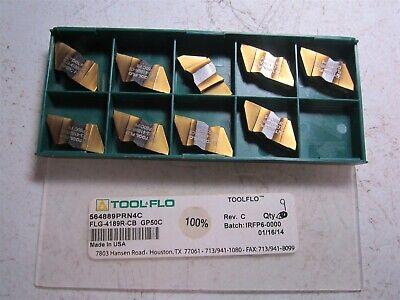 Tool-flo 564889prn4c Flg-4189r-cb Gp50c Carbide Grooving Insert - Pack Of 9