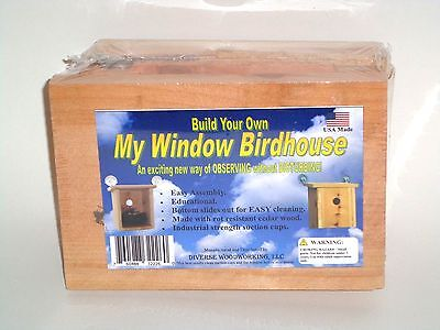 GREAT EDUCATIONAL GIFT!  Build Your Own My Window Birdhouse KIT! USA MADE!
