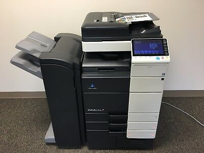 Konica Minolta Bizhub C654e Color Copier Printer Scanner Network Fax Finisher