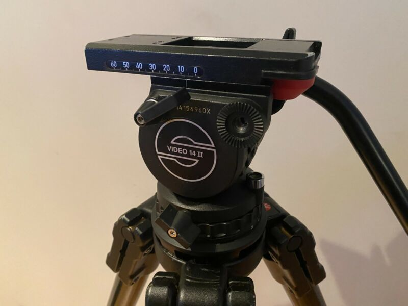 Sachtler Video 14 II Tripod fluid head 100mm ball with 33lb capacity