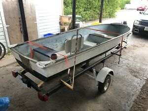 12to14 foot trailer and boat