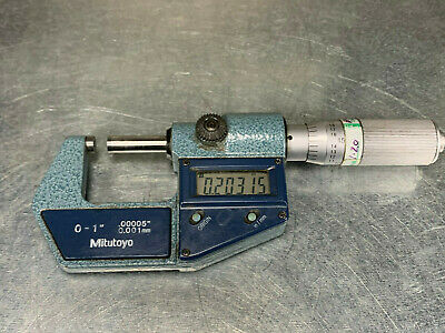 Mitutoyo 0-1 Digital Micrometer .00005 Digimatic 293-765-30