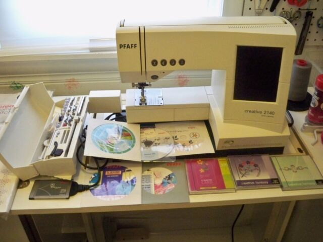 Pfaff creative 2140 Computerized Sewing Machine with $2400 of extras