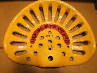 Dening Chard Vintage Cast Iron Tractor Farm Implement Seat Antique