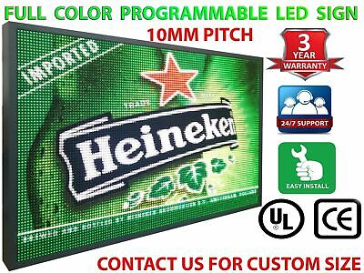 13 X 25 Full Color Led Sign Programmable 10mm Pitch Shop Billboard