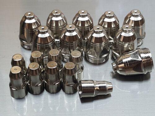 20 Pc Set x P80 Plasma Torch Consumables  - 1.3mm Nozzles - LPT7000 LPT8000