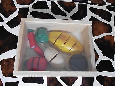 Holz Gemüse mit Messer Spielzeug Kinder Holz Spielzeug Neu