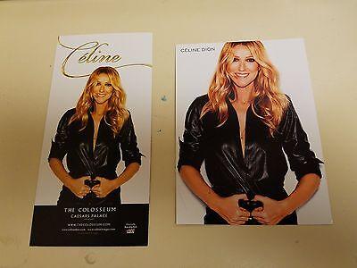 Celine Dion Las Vegas Postcard   Advertising Card Lot