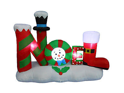 USED Christmas Inflatable NOEL LED Lights Garden Yard Party Outdoor Decoration