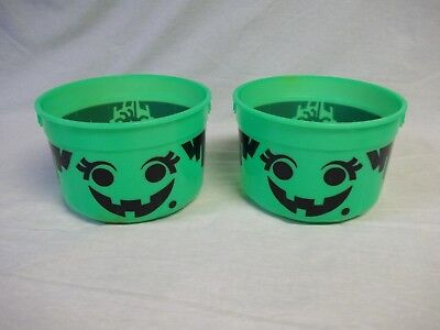 Halloween Or Holloween (2 1986 Mcdonalds Holloween Trick or Treat Bucket Bottoms only See)