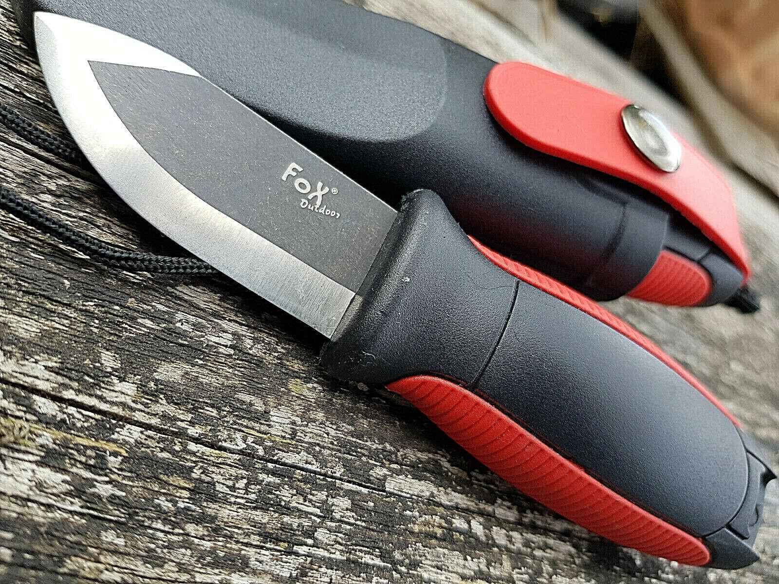 Outdoormesser Mini mit Feuerstarter Gürtelmesser Halsmesser
