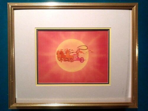 FANTASIA APOLLO AND CHARIOT DISNEY HAND PAINTED PRODUCTION CEL