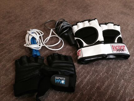 Exercise boxing gloves x2 and 2x skipping ropes Champion Lakes Armadale Area Preview