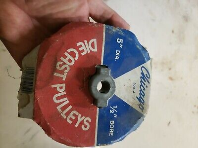 Chicago Die Cast Single V Groove Pulley A Belt 5 Od X 34 Bore 500a Free Ship