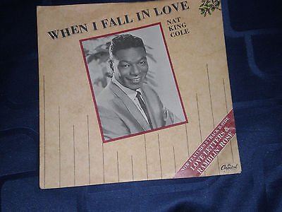 """NAT KING COLE - WHEN I FALL IN LOVE - 1987 CAPITOL PIC. SLEEVE 7"""" MAXI-SINGLE"""