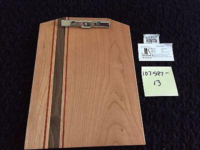 New Exotic Wood Clip Board Walnut Cherry Padauk 107597-13 Men Dad Father Gift