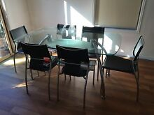 Rectangle glass top table and 6 chairs Kingscliff Tweed Heads Area Preview