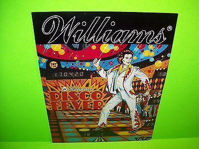 Williams DISCO FEVER 1978 Original Flipper Game Pinball Machine Promo Sale Flyer