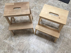 Two stepping stools