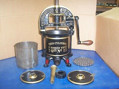 Enterprise 2 Qt 15 Nice Sausage Stuffer Lard Wine Fruit Duck Press