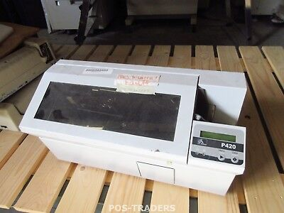 Color Card Drucker Usb (Zebra Eltron P420C Plastic ID Card Color Printer USB Dual Side - NO PRINTHEAD)