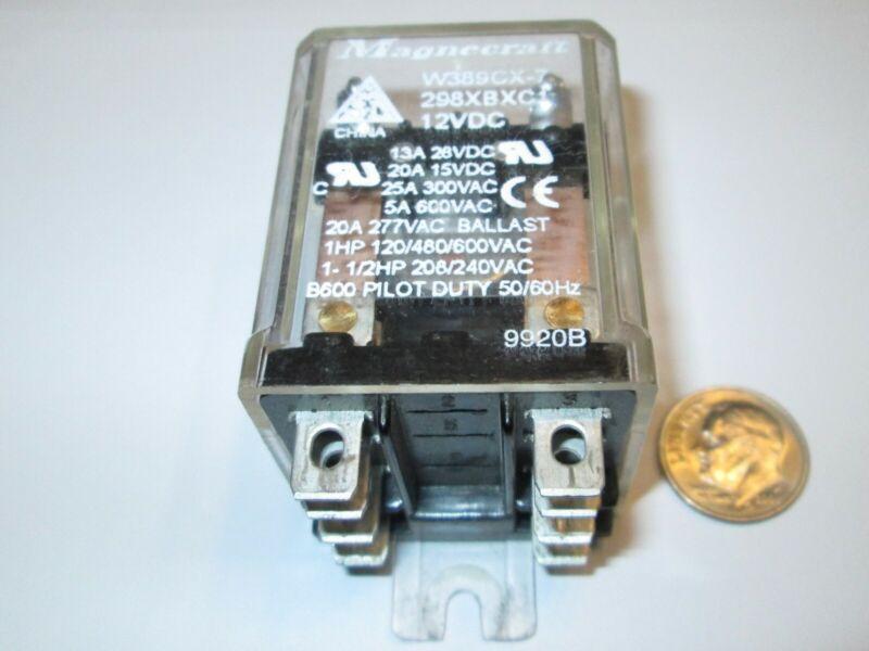 MAGNECRAFT DPDT RELAY  12vDC COIL  25 AMP CONTACTS  1 PCS. R.F.E.