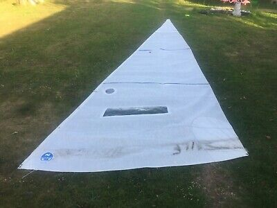 crisp NORTH jib sail 26ft X 8ft boat race sportsboat racing hanks yacht headsail