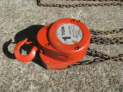 1 Ton Beebe Chain Fall Hoist Me010 W 10 Ft Lift -manual- Ingersol Rand