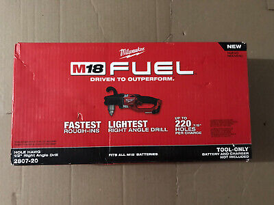 Milwaukee 2807-20 M18 Fuel Hole Hawg 12 In. Right Angle Drill Tool Only New