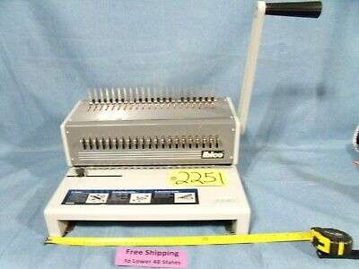 Ibico Binding Machine W Various Plastic Combs And Clear Designer Sheeting
