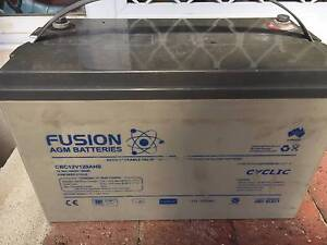 Fusion 12V 120AHS Deep Cycle battery Beeliar Cockburn Area Preview