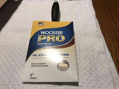 Wooster Pro Stain Brush Natural Bristles 4 Oil Stains Varnish