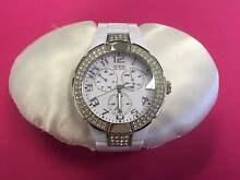 Ladies White Guess Prism Watch U11622L3 Castlereagh Penrith Area Preview
