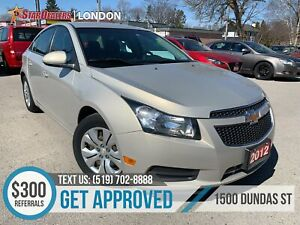 2012 Chevrolet Cruze LT Turbo | CAR LOANS APPROVED ON-THE-SPOT