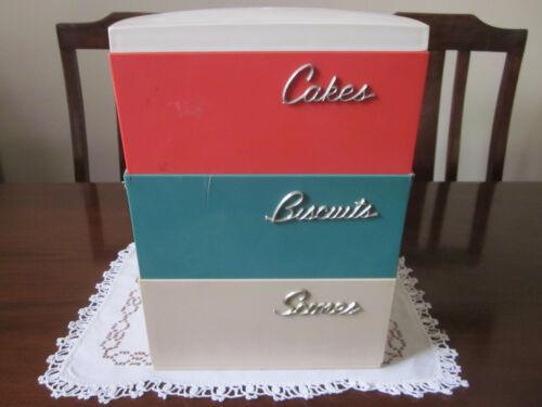RETRO CAPRI THREE TIER CAKES BISCUITS SCONES CANISTERS