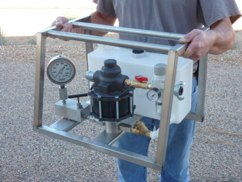 Hydrostatic Test Pump - Portable - Air Operated - High Pressure - 25,000 Psi