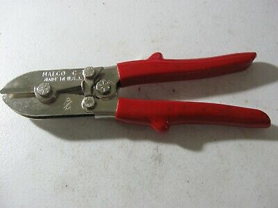 Malco Pipe Sheet Metal Duct Crimper 5 Blades Red Handle Mpn C1