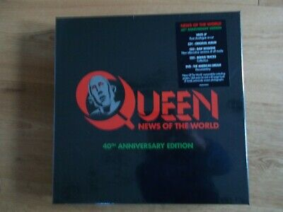 QUEEN - News Of The World (40th Ann Edition) VINYL/CD/DVD BOX SET new and sealed