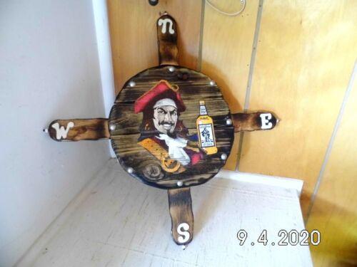 Handmade Wooden Captain Morgan Original Spiced Rum Compass/Sign 2020